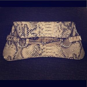 Handbags - FAUX-SNAKESKIN CLUTCH with studs